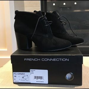 French Connection Dinah Lace-up Booties. Size 6.